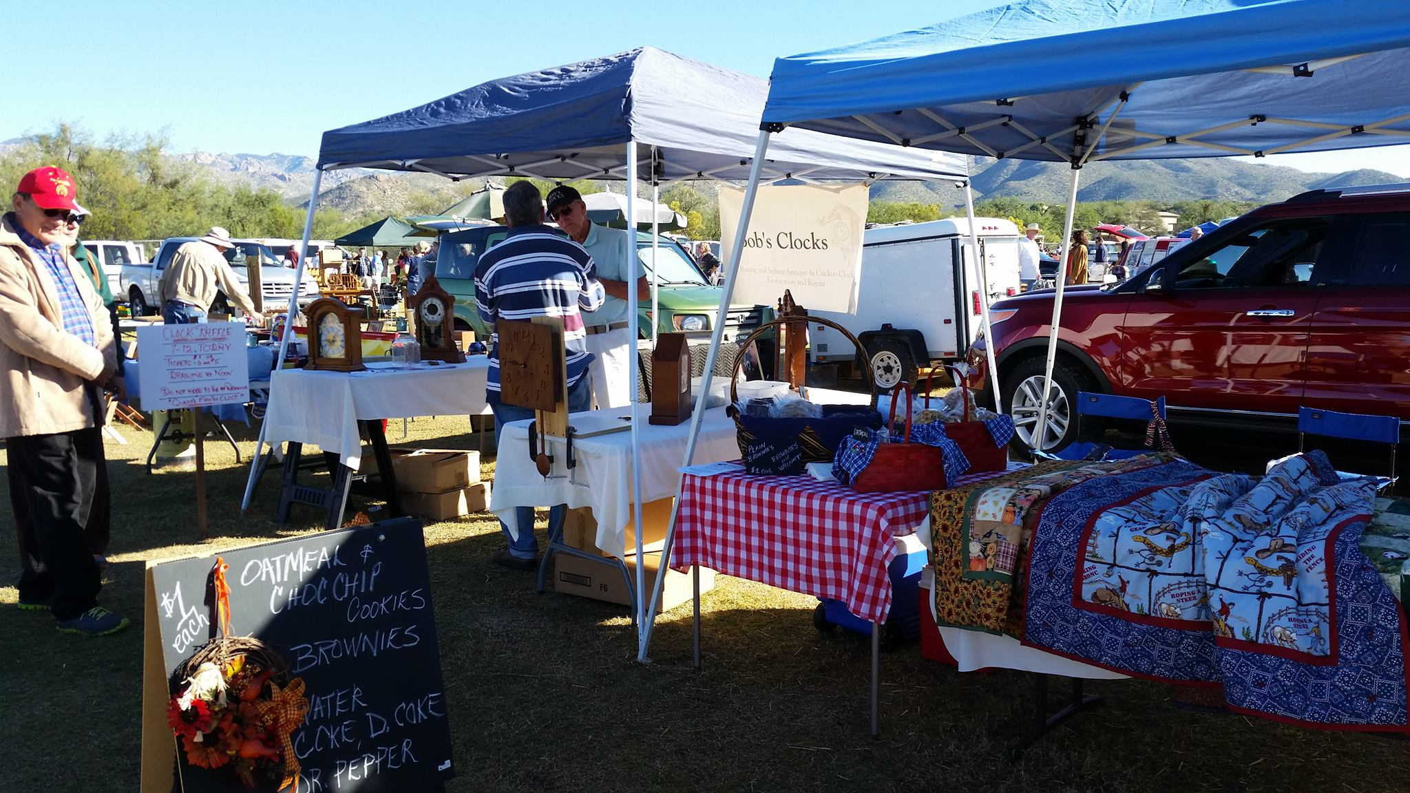 Picture of Bob's Clocks and A Simple Cookie at the First Sunday Antique and Vintage Fair at Medella Vina Ranch