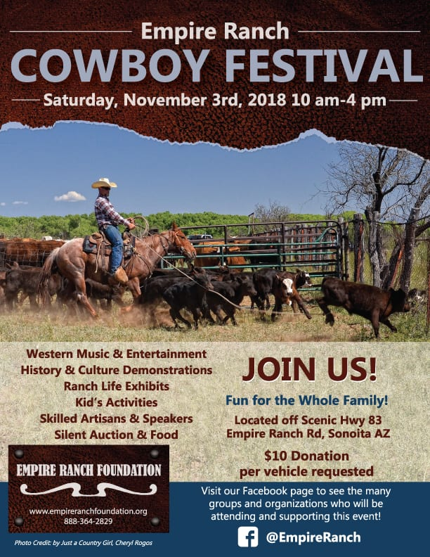 Empire Ranch Foundation Cowboy Festival Flyer