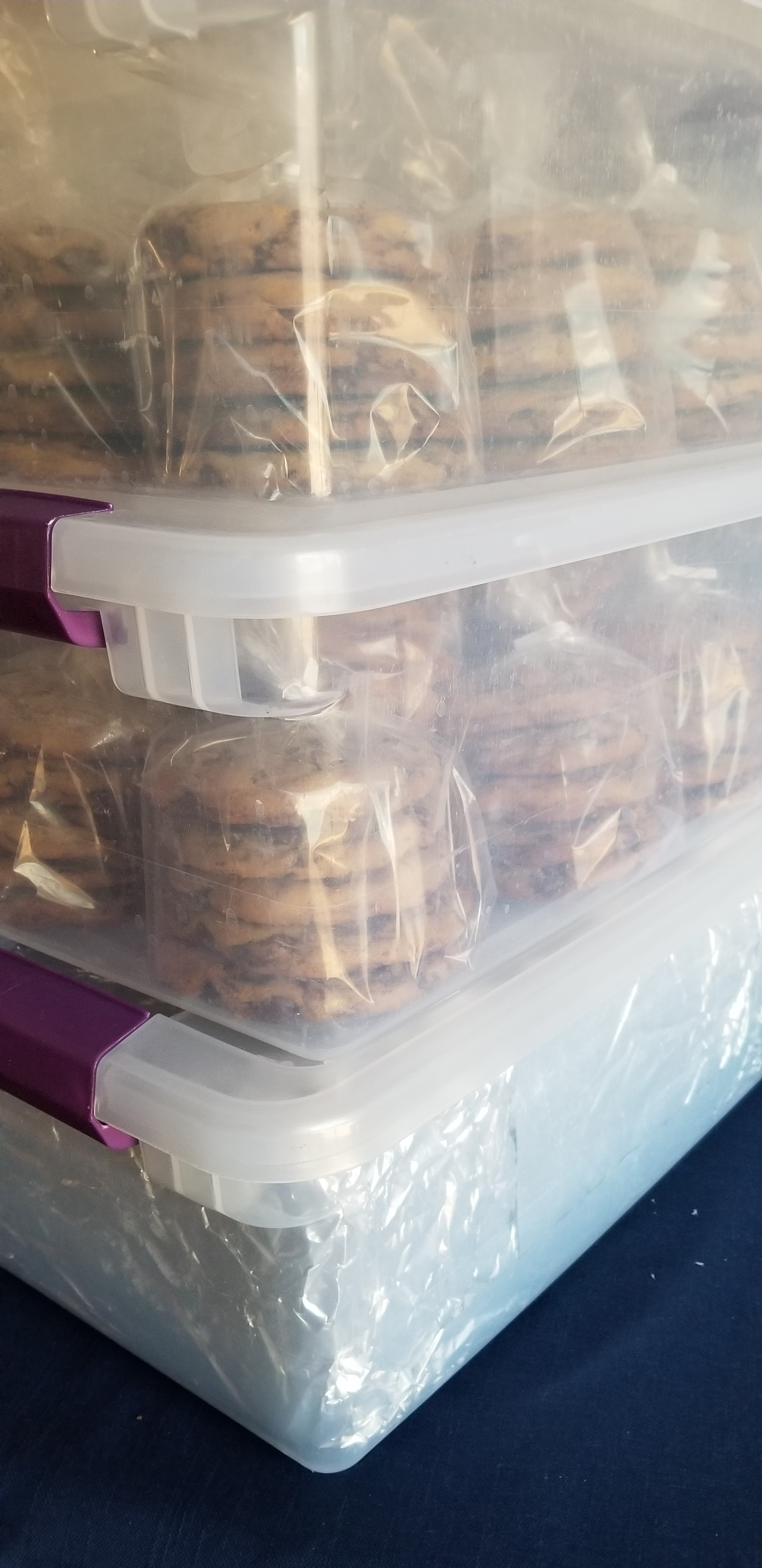 cookies boxes ready to load